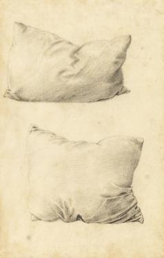 Studies of Pillows (Pencil) by Edward Burne-Jones