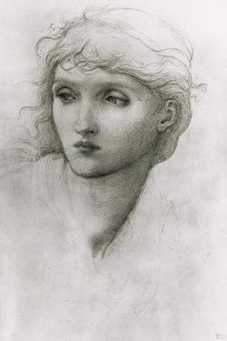 Study of a Girl's Head by Edward Burne-Jones