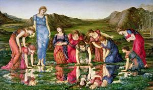 The Mirror of Venus, 1870-76 by Edward Burne-Jones