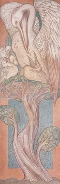 The Pelican, Cartoon for Stained Glass for the William Morris Company, 1880 by Edward Burne-Jones