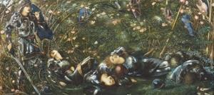 The Prince Enters the Briar Wood, Illustration from 'The Legend of Briar Rose' 1871-72 by Edward Burne-Jones