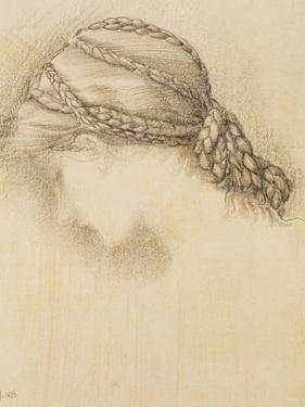 Woman's Head, Detail from a Sketchbook, 1886 by Edward Burne-Jones