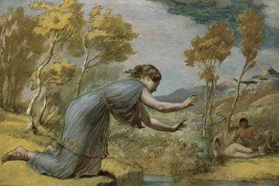 Psyche at the Stream by Edward Calvert
