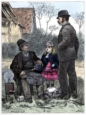 Picking up the Tinker by Charles Dickens by Edward Dalziel