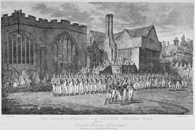 Leathersellers' Hall, and the Church of St Helen, Bishopsgate, City of London, 1871