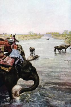 River Scene, Central India, C1930S by Edward E Long
