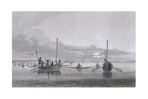 Eskimaux Coming Towards the Boats by Edward Finden