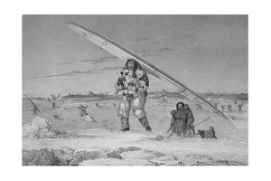 Illustration of an Inuit Family of Igloolik by Edward Finden