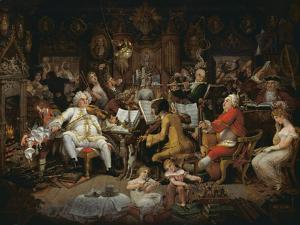 Amateurs of Tye-Wig Music ('Musicians of the Old School') by Edward Francis Burney