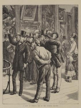 A Party of Working Men at the National Gallery by Edward Frederick Brewtnall