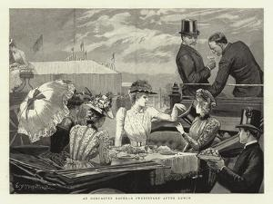 At Doncaster Races, a Sweepstake after Lunch by Edward Frederick Brewtnall