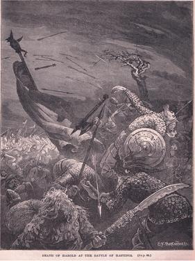 Death of Harold at the Battle of Hastings Ad 1066 by Edward Frederick Brewtnall