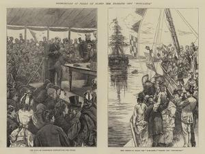 Distribution of Prizes on Board the Training Ship Worcester by Edward Frederick Brewtnall