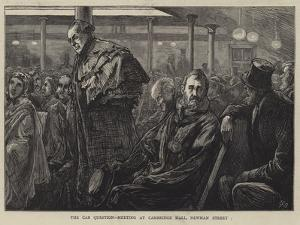 The Cab Question, Meeting at Cambridge Hall, Newman Street by Edward Frederick Brewtnall