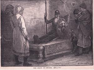 The Death of Siward Ad 1057 by Edward Frederick Brewtnall