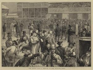 The Derby Day, a Sketch in the Betting Ring by Edward Frederick Brewtnall