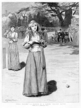 Well Played! - a Sketch at a Ladies' Cricket Match, 1890 by Edward Frederick Brewtnall