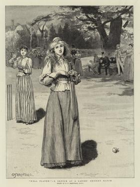 Well Played!, a Sketch at a Ladies' Cricket Match by Edward Frederick Brewtnall