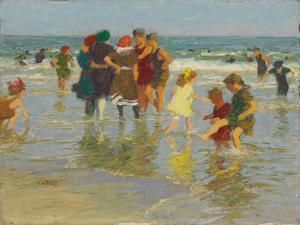 Beach Scene. Strandszene by Edward Henry Potthast