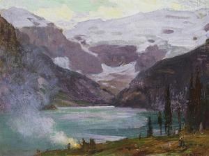 Camp by Lake Louise by Edward Henry Potthast