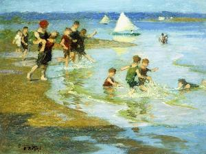 Children at Play on the Beach by Edward Henry Potthast