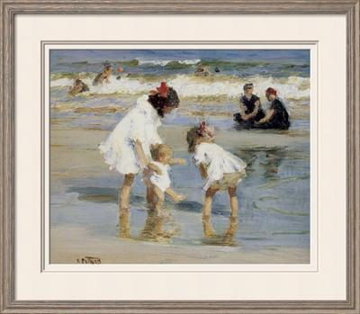 Children Playing at the Seashore by Edward Henry Potthast