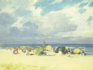 Purple Beach Scene by Edward Henry Potthast