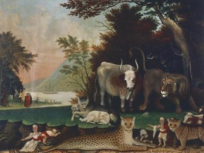 Peaceable Kingdom, Ca 1848 by Edward Hicks