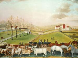 The Cornell Farm, 1848 by Edward Hicks
