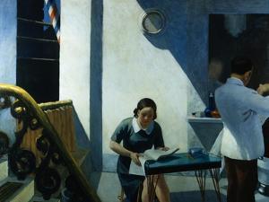 Barber Shop by Edward Hopper