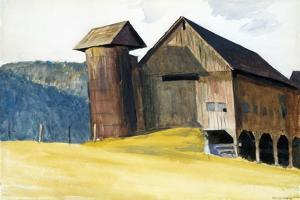 Barn and Silo, Vermont by Edward Hopper