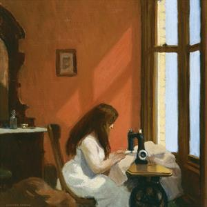 Girl at a Sewing Machine, c.1921 by Edward Hopper