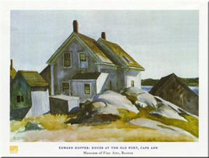 House At Old Fort by Edward Hopper