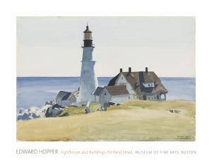 Lighthouse and Buildings, Portland Head, 1927 by Edward Hopper