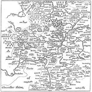 A Map of Stratford-Upon-Avon and its Surrounding Areas, 1610 by Edward Hull