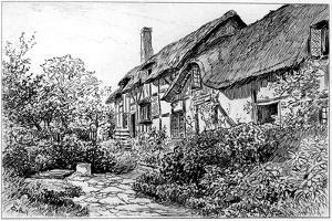 Anne Hathaway's Cottage at Shottery, Stratford-Upon-Avon, Warwickshire, 1885 by Edward Hull