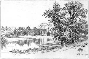 Charlecote Park, Warwickshire, 1885 by Edward Hull