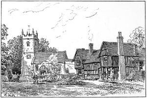 Clifford Church and Old House, Stratford-Upon-Avon, Warwickshire, 1885 by Edward Hull