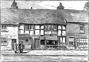 Shakespeare's Birthplace before Restoration, Stratford-Upon-Avon, Warwickshire, 1885 by Edward Hull