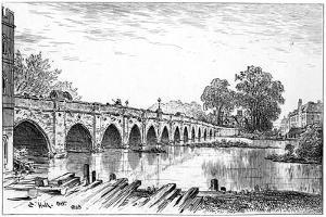 Stratford Bridge, Stratford-Upon-Avon, Warwickshire, 1885 by Edward Hull