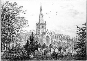 Stratford Church as Seen from the North, Stratford-Upon-Avon, Warwickshire, 1885 by Edward Hull