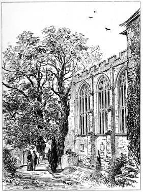 The Chancel of Stratford Church, Stratford-Upon-Avon, Warwickshire, 1885 by Edward Hull