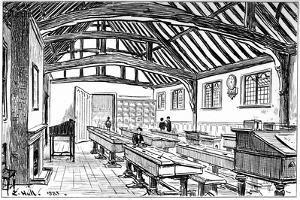 The Grammar School, Stratford-Upon-Avon, Warwickshire, 1885 by Edward Hull