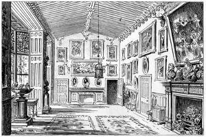 The Great Hall of Charlecote Park, Warwickshire, 1885 by Edward Hull