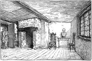 The Room in Which Shakespeare Was Born, Stratford-Upon-Avon, Warwickshire, 1885 by Edward Hull