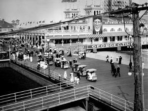 Boardwalk in Atlantic City, New Jersey 1951 by Edward Hungerford