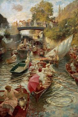 Boulter's Lock: Sunday Afternoon, 1885-97 by Edward John Gregory