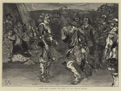Scene from Charles the First at the Lyceum Theatre