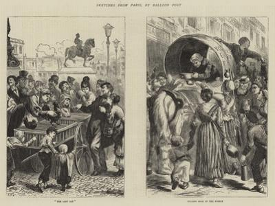 Sketches from Paris, by Balloon Post