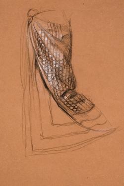 Drapery Study by Edward John Poynter